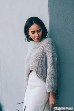Опять красоту нашла, мягкий пухляш, свитерок оверсайз ложной косой английской резинкой, для вдохновения - Вязание - Страна Мам