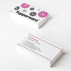 Tupperware Pink Classic Business Cards Dsaccess Businesscards Tupperwarebusinesscards Card