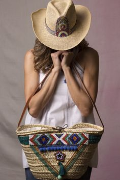 Basket bag red heart ( Sequin Heart Red ) Mother and Child Boho Bags, Basket Bag, Summer Bags, Handmade Bags, Bag Making, Boho Chic, Boho Style, Straw Bag, Boho Fashion