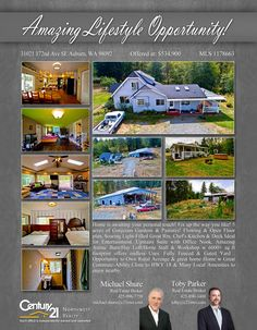 PRICE CHANGE  5 acres of Gorgeous Gardens & Pastures! Flowing & Open Floor plan, Soaring Light-Filled Great Rm, Chef's Kitchen & Deck Ideal for Entertainment  Contact Michael Shure & Toby Parker MLS # 1178663 http://31021172ndavese.c21.com/