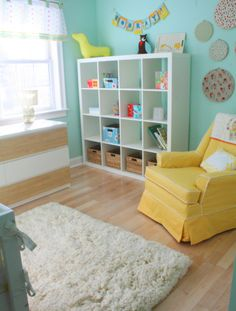 Teal Colored Wall With White Baby Furniture Would Make For A Cute Tiffany Bedroom Later
