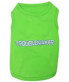 Pet Clothes TROUBLEMAKER Dog T-Shirt - Large - http://www.thepuppy.org/pet-clothes-troublemaker-dog-t-shirt-large/