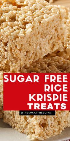 Sugar Free Deserts, Low Sugar Desserts, Sugar Free Sweets, Sugar Free Cookies, No Sugar Foods, Sugar Free Recipes, Bar Recipes, Sugar Free Rice, Sugar Free Baking