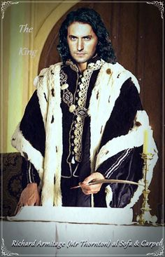 This is the best of the Richard Armitage/Richard III fan art, which is why I post it here.