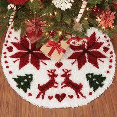 Nordic Tree Skirt Latch Hook Kit - Herrschners #traditional #christmas