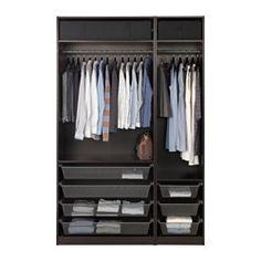 Epic PAX Wardrobe black brown