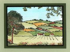 Countryside set from Hobby Art. Card by Jenny Mayes House Mouse Stamps, Retirement Cards, Card Making Techniques, Art Cards, Stamp Sets, Clear Stamps, Countryside, Cardmaking, Stamping