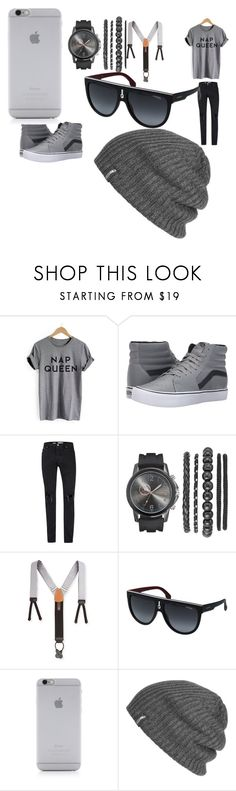 """""""My First Polyvore Outfit"""" by bembemll ❤ liked on Polyvore featuring Vans, Topman, Trafalgar, Carrera, Native Union and Outdoor Research"""
