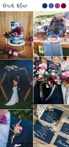 dark blue and fuchsia jewel tone chic rus dark blue and fuchsia jewel tone chic rus Elegant Wedding Invitations, Wedding Themes, Colour Themes For Weddings, Winter Wedding Colors, Winter Weddings, Fairytale Weddings, Rustic Weddings, Unique Weddings, Wedding Colours