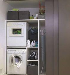 Install Waschmaschine im Bad, Wäsche - Salle de bain - Mobel Laundry Cupboard, Laundry Room Cabinets, Basement Laundry, Laundry Closet, Small Laundry Rooms, Laundry Room Organization, Laundry Room Design, Laundry In Bathroom, Bathroom Storage