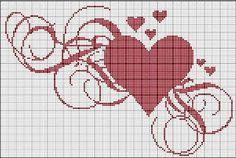 Essência & Ponto Cruz: Lindos gráficos de coração