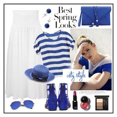 """""""Best Spring Looks!"""" by diane1234 ❤ liked on Polyvore featuring Twin-Set, H&M, Teva, White House Black Market, Lord & Taylor, Jimmy Choo and MAC Cosmetics"""