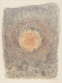 yama-bato:  Mark Tobey Composition Date: 1961Image Dimensions: 231/4 x 161/2 inches (image)Medium: Color lithograph http://www.northwestmu...