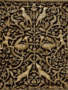 Detail from an ivory panel -Cordoba, Spain ~10th-11th century