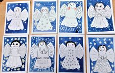 Tvoříme s dětmi ☺: Přáníčka 5. třída Diy And Crafts, Crafts For Kids, Art Drawings For Kids, Holiday Themes, Winter Art, Masking Tape, Advent, Christmas Crafts, Projects To Try