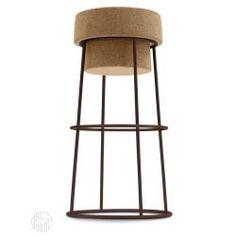 Barstuhl Domitalia aus Metall, mit Sitzfläche aus Kork, Sitzfläche auf 66 oder 76 cm
