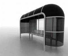 Modular bus stop shelter bends to the altering needs of city dwellers