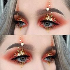 Gold flake makeup idea