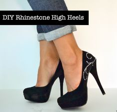 How to Make Rhinestone High Heels using your Silhouette CAMEO. Also a discount code: LMM.