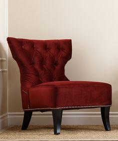 Find This Pin And More On Master Bedroom. Burgundy Monica Pedersen Channing Side  Chair ...