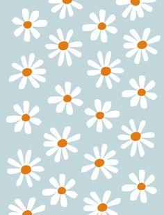 Illustrated Daisies Pattern