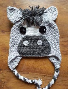 Crocheted horse/ donkey hat