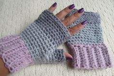 Create easy crochet fingerless gloves with this easy free pattern.