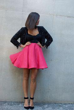 DIY circle skirt / miniskirt - no sewing pattern