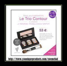 Set Trio Contour et Pinceau Contouring Le nouveau Trio Contour : trois produits faciles à estomper et superposer pour un visage sculpté et défini. Pour tout achat d'un Trio, recevez un Pinceau Contouring gratuit ! 53,00 € #FRENCH #FRANCE #YOUNIQUE #PARIS #MAQUILLAGE #BEAUTE #LETRIOCONTOUR