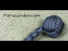 Paracordist how to tie a monkeys fist knot w/ 2 paracord strands out for a self defense keychain