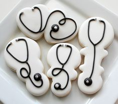 Stethoscope Cookies using a rattle cutter