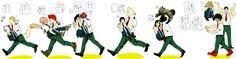 Boku no Hero Academia || Tooru Hagakure, Mashirao Ojiro, Ashido Mina, Kirishima Eijirou, Kyouka Jirou, Koji Koda, Tsuyu Asui, Fumikage Tokoyami, Uraraka Ochako, Midoriya Izuku, Tenya Iida.