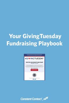 In this guide, we'll show you how to bring your fundraising online just in time for GivingTuesday.  We'll give you a playbook that you can follow to end your 2015 fundraising on a high note, and extend your success into the New Year.