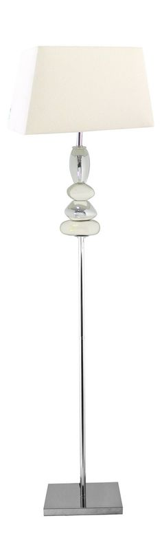 Floor Pebble Lamp White And Chrome with White Shade Cheap Home Insurance, Pebble Floor, Standard Lamps, Lamp Design, Floor Lamp, Chrome, Shades, Flooring, Standing Lights