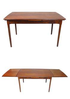 6451b4adaebd Danish Modern Expandable Teak Dining Table Scandinavian Design Retro Dining  Table Mid Century Modern Dining Table Teak Furniture