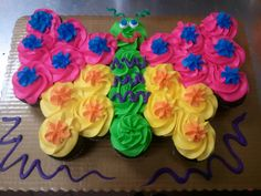 Beautiful Butterfly Cupcake Cake The Lil Fake Butterflys