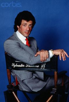 Sylvester Stallone, director chair, Sly