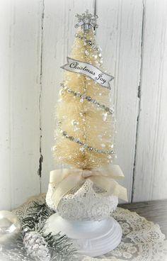 Christmas Tree-Bottle Brush-Elegant-Vintage Inspired