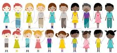 Families Digital Clip Art Clipart Set - Personal and Commercial Use