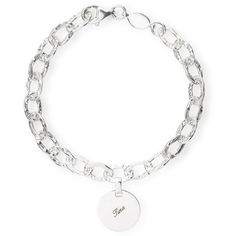 MyName, Ankerarmband gehämmerte Struktur aus Silber & Karabinerverschluss mit Gravurblättchen 16mm inkl. Gravur. Länge 20cm.