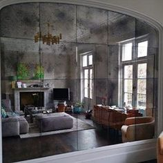 antique mirror in the kitchen | a storied style | a design blog