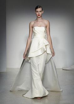 Amsale Fall 2013 wedding dresses, bridal market runway show - via junebugweddings.com