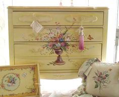 hand painted french dresser