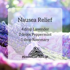 Blend ( Lavender is amazing at calming the nerves and something about Peppermint and Rosemary together really eases my stomach. This is my go-to blend for nausea. Essential Oils For Nausea, Essential Oil Uses, Healing Oils, Aromatherapy Oils, Essential Oil Diffuser Blends, Doterra Oils, Yl Oils, Nausea Relief, Natural Remedies