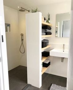- Shower room - - # bathroom renovations - Badezimmer Re . - – Shower room – – # bathroom renovations – Badezimmer Re … Open Shelving, Room Furnishing, Bathroom Renovation, Shower Room, Bathroom Decor, House Bathroom, Bathroom Remodel Designs, Bathroom Interior Design, Bathroom Renovations