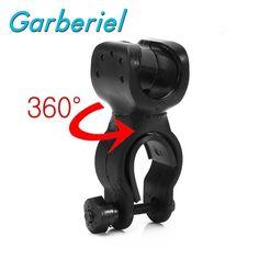 Heißer Verkauf Bike Zubehör 360 Schwenkbar Fahrrad Clip Licht Geführt Luces Bicicleta LED Taschenlampe Halterung Halter Taschenlampe Clip