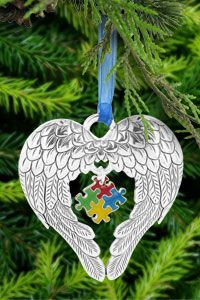 Wings of an Angel Puzzle Piece Ornament at The Autism Site