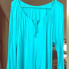 AB STUDIO XL BLOUSE Comfortable and FLOWY.  Gently Worn.  Stitching on front and sleeves. AB Studio Tops Blouses