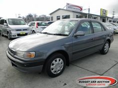 Toyota Corolla EX RENTAL For Sale  $3,500.00    Year:   1995  Manufacturer:   Toyota  Model:   Corolla EX RENTAL   Engine:   1331  Fuel Type:   Petrol  Transmission:   Automatic  Mileage:   214046 km  Exterior Colour:   Grey  Doors:   4  Body Style:   Sedan  Stock #:   8715    Features:  Central Locking, Power Windows, Power Steering