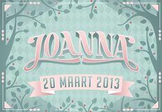 Birthcard for Joanna